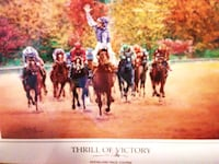 Custom Framed Thrill of Victory Horseracing Lithog Henderson, 89015