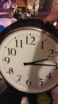 Round black and white analog wall clock Nolensville, 37027