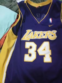 purple and yellow Nike Los Angeles Lakers 34 baske Silver Spring, 20903