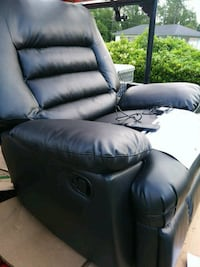 black leather recliner Mulberry, 33860