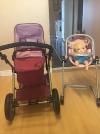 Child's I'coo stroller and high chair set 620 km