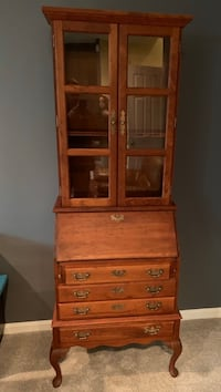 Antique Hutch with Pullout Desk