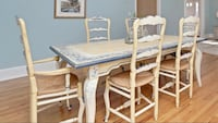 Habersham hand painted table, chairs and hutch  Greenwich, 06807