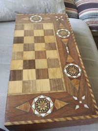 rectangular brown and beige wooden chessboard Scarborough, M1S