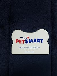 PETSMART CARD HAS 103.97 AVAILABLE ON IT.