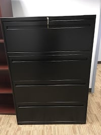 Black 4-drawer file cabinet, like new Woodbridge, 22192