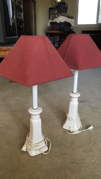 White and brown table lamp Placerville, 95667