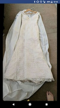 white and gray floral long-sleeved dress screenshot Cherry Hill, 08003