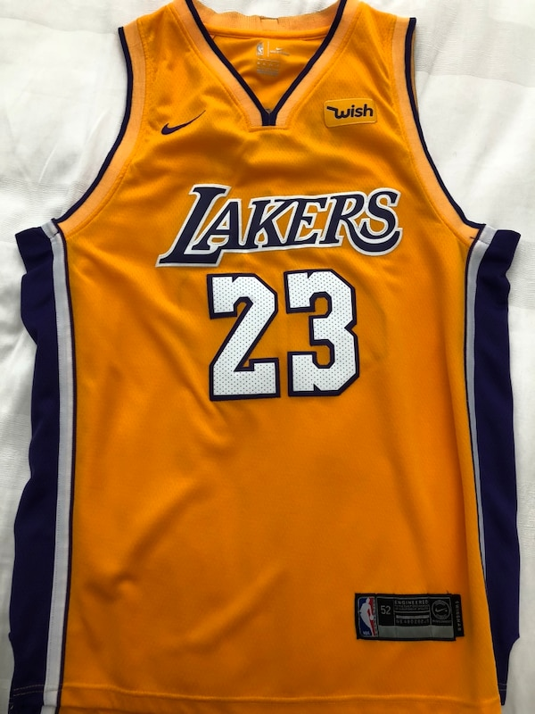 pretty nice 3e791 2732b Lebron James Lakers (Yellow) Authentic Nike Jersey