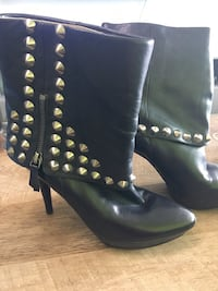 Nine West leather boots with studs