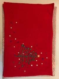4 Embroiled christmas placemat. Good condition.  New York