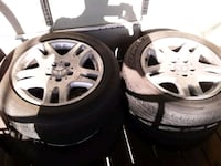 Four 16 inch Mercedes-Benz rims what's tires all tires have good tread Camp Springs, 20746