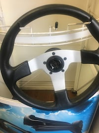 Silver and black gt car steering wheel Toronto, M1P 2R6