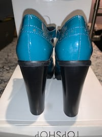 "TopShop ""Soulful"" Teal 4.5"" Mary Janes"