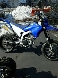 blue and white motocross dirt bike Schenectady, 12304