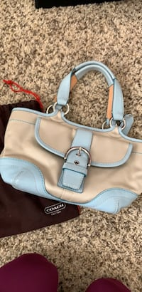 women's white and blue leather shoulder bag Gainesville, 20155