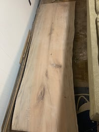 Quarter sawn piece of sycamore has great figure. 8 1/2 feet long by 30 inches wide holes are already epoxied and resanded sanded      116 mi