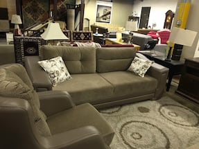 3 PCS FLOOR MODEL SOFABED , LOVESEAT AND CHAIR!! MADE IN TURKEY!!