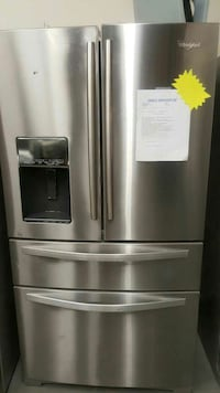 stainless steel Whirlpool french door refrigerator with dispenser Washington D. C., 20011
