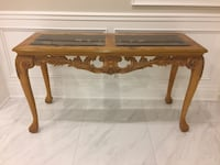 Wood and Tempered Glass Console Table  Vaughan, L4L 7X2