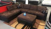 brown suede padded sectional couch Waukegan, 60085