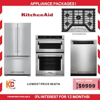 Brand new kitchenaid 3pc appliances package is now at sale at vry lowest price in gta  Brampton