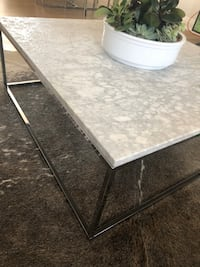 Cararra marble stone top coffee table