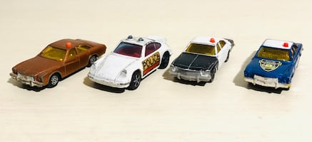 Vintage Corgi Juniors Police Die Cast Cars 3 Buick Regal and Porsche