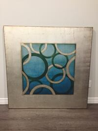 Gold/silver and turquoise abstract painting Kitchener, N2R 0B4