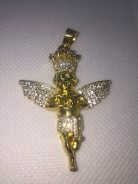 24k Gold plated Angel pendant Burnaby, V5A 4C1
