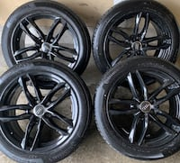 4 x 215/50/17 CONTINENTAL ALL SEASON TIRES AND OEM AUDI RIMS $$$$950