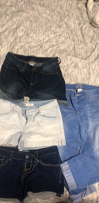 Girls size 12-14 LEVI'S and justice swim shorts and pants. $5 each in great condition  Burbank, 91505