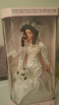 Handcrafted porcelain Bridal doll