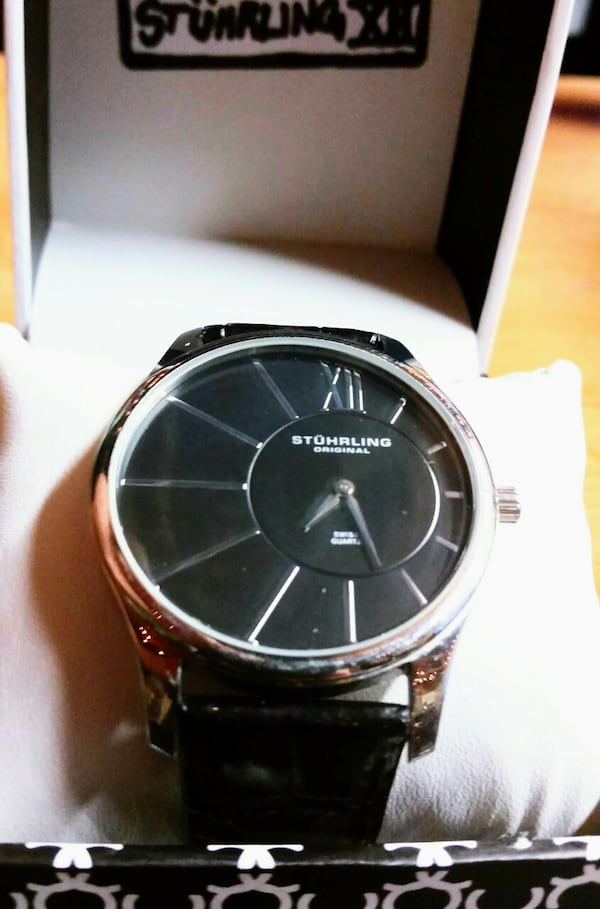 Stührling Original Stainless Steel Men's Watch - Includes Display Box a5d4c343-b99c-4a18-ae43-fed851c62e7c