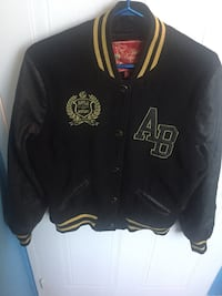 Black and gold letterman jacket Toronto, M1V