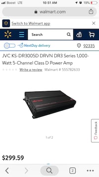 Jvc ks DR30005D DRVN DR3 series 1000 watt 5 channel class D power amp Apple Valley, 92307