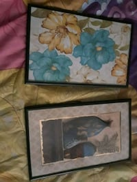 two brown wooden framed painting of flowers Ceres, 95307