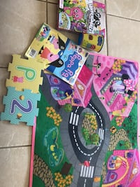 Minnie  Mouse mat, Peppa pig floor puzzle, Hatchimal game, operation game from $1.00 on up North Providence, 02904