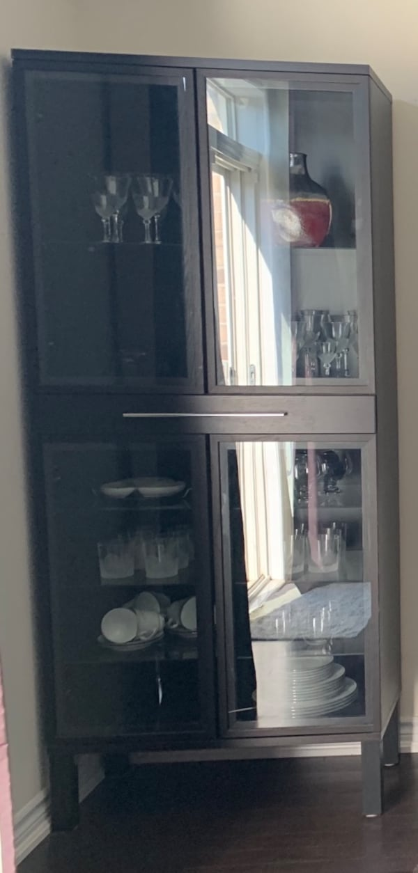 Glass cabinets with drawer c5556050-c328-46ec-9367-56de01ac8c71