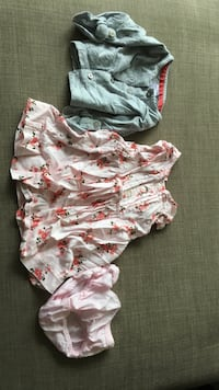 Toddler's grey jacket, floral dress and panty
