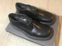 Men's black leather shoes: size 42