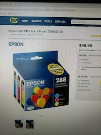 Epson cartridge ink. (288) New Vaughan, L4H 0Z6