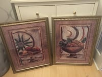 two brown wooden framed painting of flowers Toronto, M9W 4M1