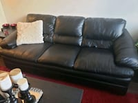 black leather 3-seat sofa Hyattsville, 20785