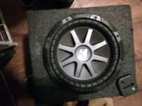black Kicker subwoofer with enclosure Sacramento, 95815