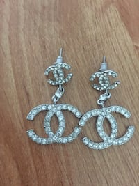 pair of silver-colored earrings Pickering