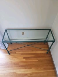 Pier 1 Metal and Glass table.