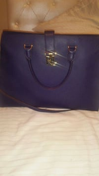 women's blue leather tote bag Gibsonton, 33534