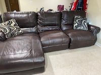 Three Piece Electric Reclining Couch with Chaise Lounger