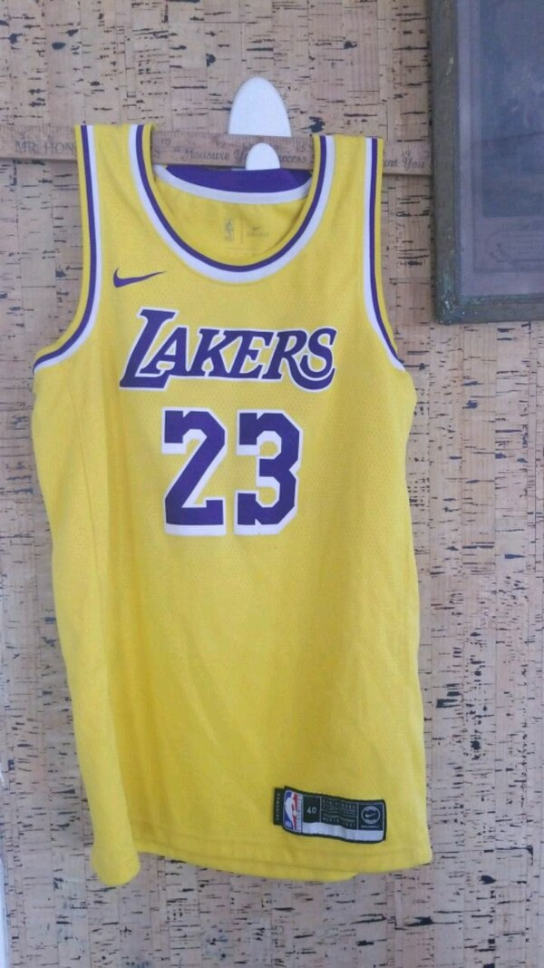3032c06e5 Used yellow and blue Los Angeles Lakers 24 jersey for sale in Honolulu -  letgo